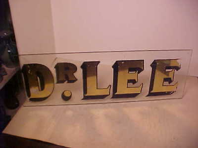 Antique 1890-1910 Reverse Painted On Glass Doctors Sign Dr.lee