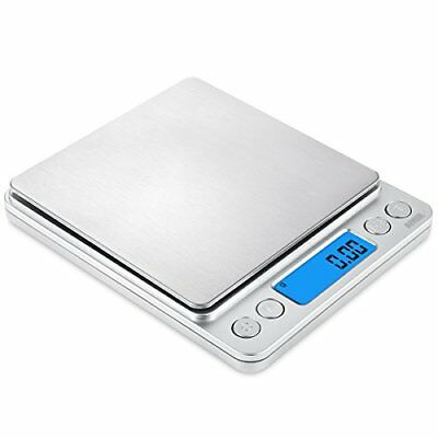 AMIR Digital Kitchen Scale, 500g/ 0.01g Pro Cooking scale with Back-Lit LCD Disp