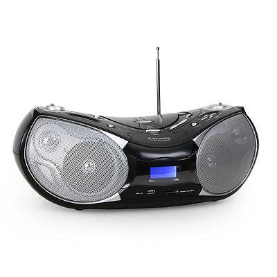 Portable Cd Player Boombox Stereo Fm Radio Sd Usb Speaker *free P&p Special Deal
