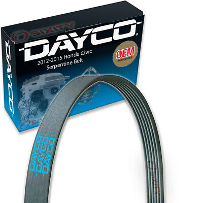 Dayco Serpentine Belt for 2012-2015 Honda Civic 1.8L L4 - V Belt Ribbed ly