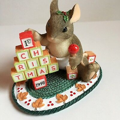 Charming Tails BY FITZ AND FLOYD The Building Blocks Of Christmas 87/619