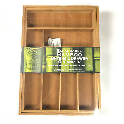 Totally Bamboo Expandable Utensil Drawer Organizer 8 Compartment