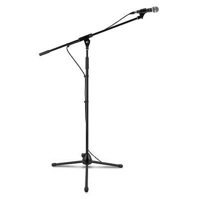 Auna Km 02 Bk Four-Piece Wired Microphone Set Stand Cable Case Black Free P&p Uk