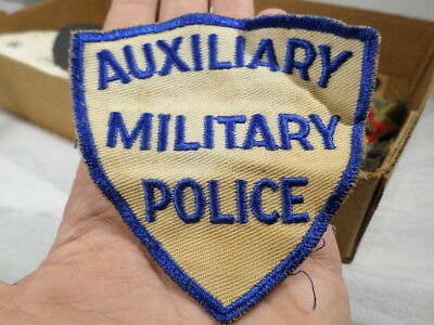 WWII VINTAGE US Army Auxiliary Military Police Patch