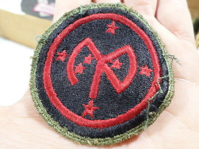 WWII VINTAGE US Army 27th Infantry Division Patch Green Back