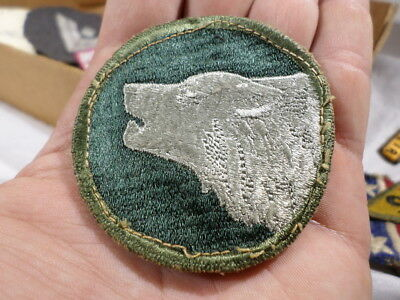 WWII VINTAGE US Army 104th Infantry Division Patch Timberwolves GEMSCO?