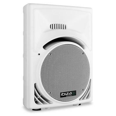 """12"""" Dj Pa Disco Stage Speaker 300W Rms 2-Way White Abs *free P&p Special Offer"""