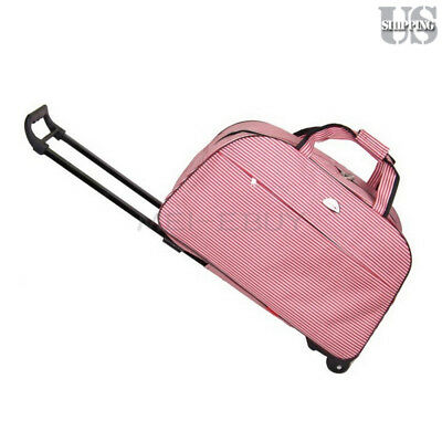 """24"""" Large Rolling Wheeled Duffle Bag Briefcase Travel Suitcase Carry On Luggage"""
