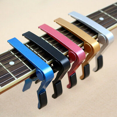 Tuner Guitar Capo Clamp Tuning for Acoustic/Electric Guitar Ukulele 7 Colors
