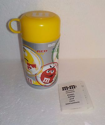 2002 M&M's Insulated Thermos w/Instructions - 11.5 oz.