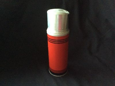 Vintage American Thermos Bottle Co. red w/black stripes #2130