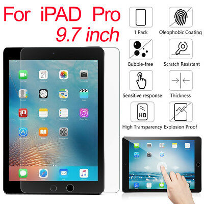 "For IPad Pro 9.7"" Air & iPhone X 8 7 Screen Protector Crystal 9H+ Tempered Glass"