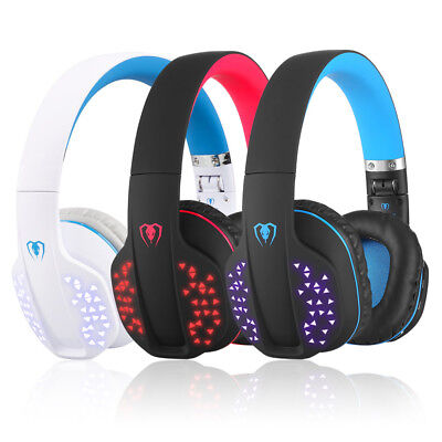 Beexcellent Q2 Over-ear Stereo Dynamic Bluetooth Headset with Mic + LED light