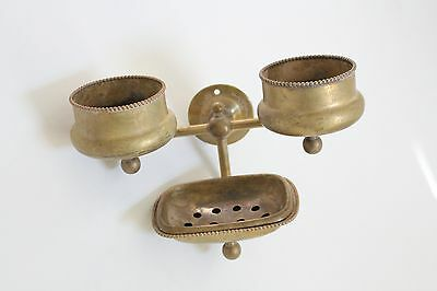 antique bathroom soap cup tumbler holder | brasscrafters vtg bath deco victorian