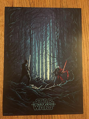 Set of 3 STAR WARS The Force Awakens IMAX poster. #4 of 4 (AMC Exclusive) 9.5X13