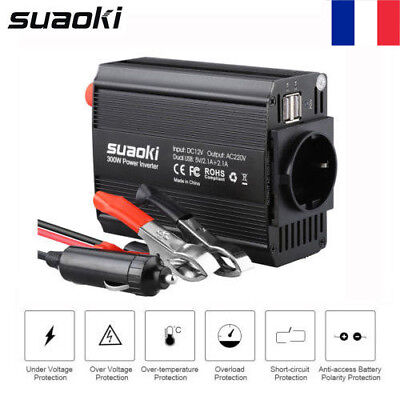 300W Voiture Power Inverter DC 12V AC 220V Convertisseur électronique Port USB