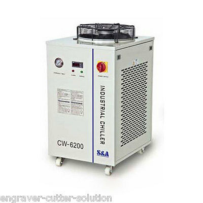 S&A CW-6200AI Industrial Water Chiller 220V 50HZ  for Dual 200W CO2 Laser Tubes