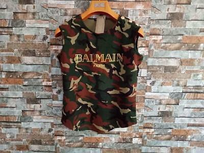 Top Sell Women's Vest Camo Pattern Sleeves Tee Shirt Asian Size Bronzing Letter