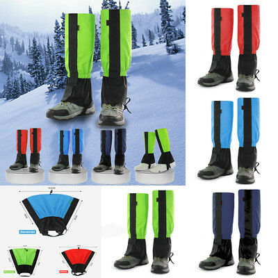 2/4PCS Outdoor Waterproof Hiking Hunting Climbing Snow Leg Legging Cover Gaiters