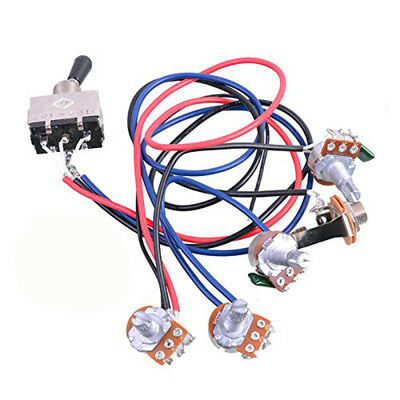 Wiring Harness Kit 2 Volume 2 Tone LP 3 Way Switch for Gibson Les Paul Guitar
