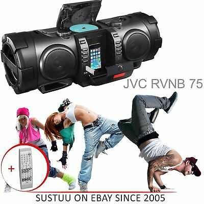 JVC Portable CD Boomblaster with Lightning Dock Bluetooth & DAB (RVNB100B) NEW