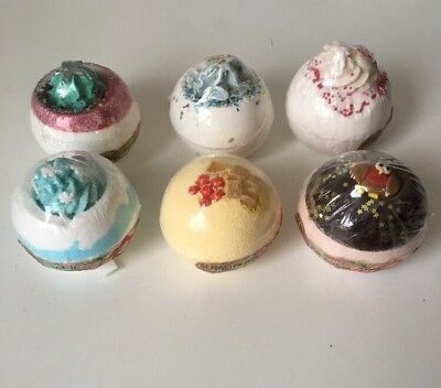 6 Christmas Bomb Cosmetics Bath Bombs Bath Blasters Individually Wrapped
