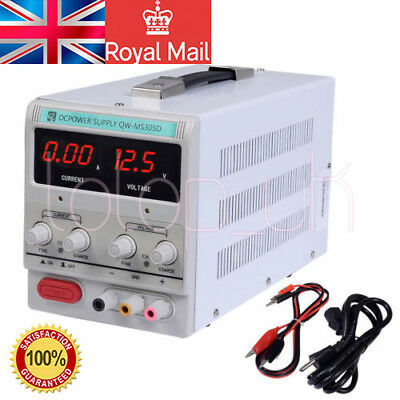 Variable Linear Adjustable Lab DC Bench Power Supply 0-30V 0-5A UK STOCK