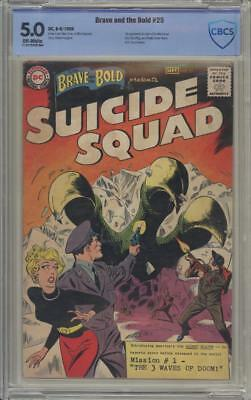 BRAVE AND THE BOLD 25 - CBCS 5.0 - First Suicide Squad - Rare - DC Comics