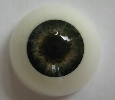 Reborn doll eyes 20mm Half Round  FOREST
