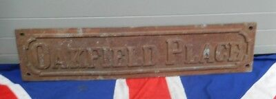 Antique Vintage Cast Iron Victorian Edwardian Street Sign Wall Art