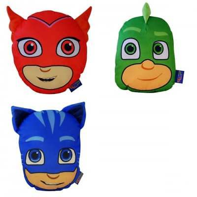 PJ Masks OFFICIAL 3D Cushion with Zip & Storage - NEW