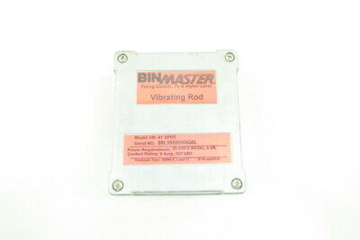 Binmaster VR-41 SPDT Vibrating Rod Level Control 20-250v-ac