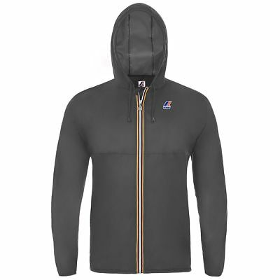 K-WAY K WAY LE VRAI 2.0 CLAUDE Marsupio 2017 Giubbotto Jacket Impermeabile Grey