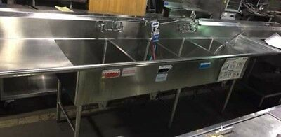 Griffin 4 Compartment Sink with L&R drainboards