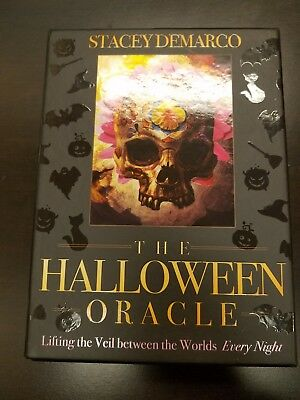 Halloween Oracle tarot deck, box, and guide book New