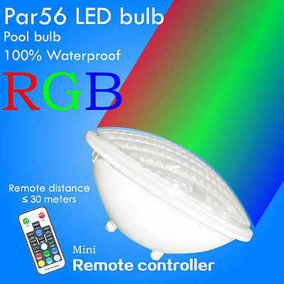 Par56 LED Swimming pool lights & Spa Light 12V AC/DC RGB + Remoter 24W 32W IP68