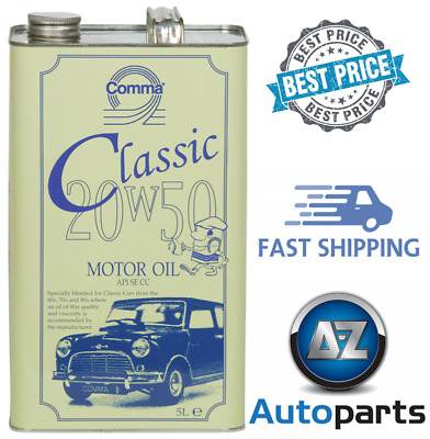 Comma - Classic Motor Oil Car Engine Performance 20W-50 Old Engines - 5L
