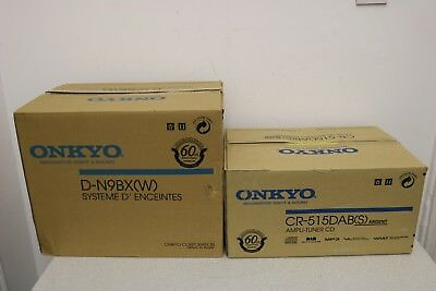 ONKYO CR515DAB CD Receiver + D-N9XB Speakers New Boxed Global Shipping