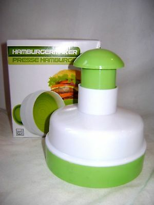 New Hamburger Burger Patty Press Shaper With Push Down Handle Edco