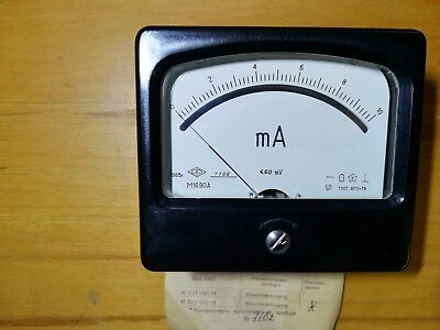 Tube tester  10 μA, M1690A microamper meter.  Vibration-resistant, shaking 10 μA