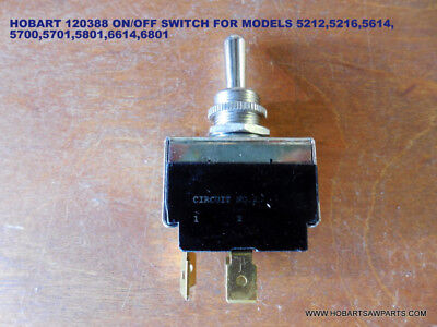 Hobart Saw 120388 Momentary On/off Toggle Switch For Models 5212-5216-5514-5614