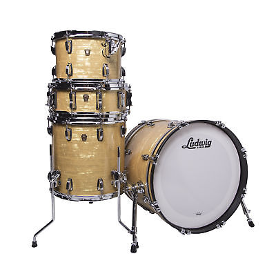 Ludwig Classic Maple Downbeat Shell Kit in Aged Onyx with Free Snare Drum!