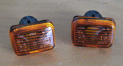 MG Rover F MGF Pair Amber Side Indicator Repeater Light Lamp Lights Lenses New