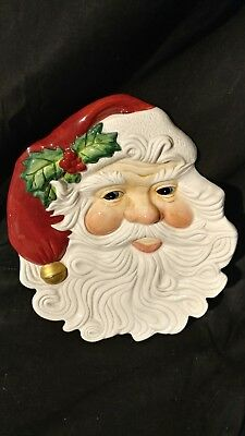 Fitz And Floyd Essentials Santa Face Plate