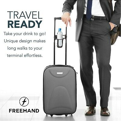 Freehand - Self-leveling Luggage Drink Holder Holds. Holds cups and bottles