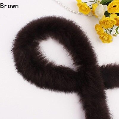 1m Rabbit Faux Fur Tape Trimming Ribbon Furry Fluffy Sewing Crafts Scarf Collar