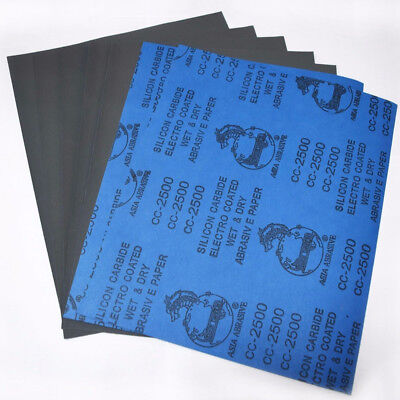 Lot 1/2 Sheets Wet and Dry Sandpaper Car Auto Polishing Sand Paper 80-2000 Grits
