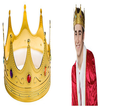 Prom King Crown Costume Showing Drama Movie Prince FUN Accessory Hat For Unisex