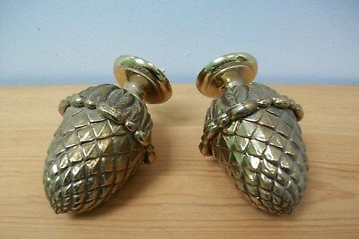 vintage french large brass finials - Acorn design - #22 furniture mounts