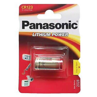 1 Pcs Panasonic CR123 3V Lithium Power DL123A CR17345 FREE SHIPPING